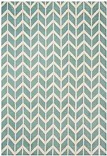 Teppich modernes Design ARLO CHEVRON RUG BLUE 200
