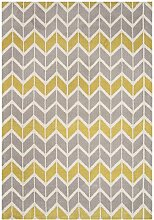 Teppich modernes Design ARLO CHEVRON RUG GREY 100 cm x 150 cm