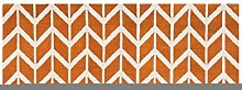 Teppich modernes Design ARLO CHEVRON RUG ORANGE 160 cm x 230 cm
