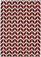 Teppich modernes Design ARLO CHEVRON RUG RED 120