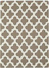 Teppich modernes Design ARTISAN RUG TAUPE 120 cm x 170 cm 100% Wolle