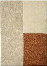 Teppich modernes Design BLOX RUG COPPER 120 cm x 170 cm 100% Wolle