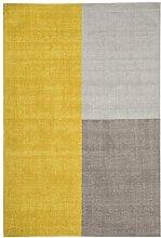 Teppich modernes Design BLOX RUG MUSTARD 120 cm x 170 cm 100% Wolle