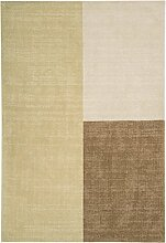 Teppich modernes Design BLOX RUG NATURAL 160 cm x 230 cm 100% Wolle