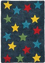 Teppich modernes Design CANDY STARS RUG BLUE 70 cm x 100 cm 100% Baumwolle