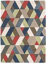 Teppich modernes Design FUNK CHEVRON RUG MULTI 200 cm x 300 cm 100% Neuseeländische Wolle