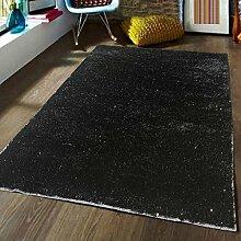 Teppich Monochrome Teppich 6 Farbe Living Teppich Zimmer Modern Schlafzimmer Nachttischdecke Rechteckig ( Farbe : Schwarz , größe : 160cm×230cm )
