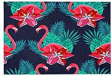 Teppich, Motiv: Flamingo und Tropische