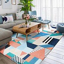 Teppich Multicolor Geometrie Bodenmatte
