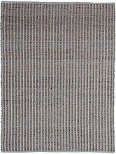 Teppich Natur / Pink 100% Jute-/Baumwollmischung