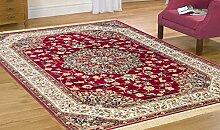 Teppich Orient Teppich Klassisch wirtschaftlichen Rubine 317-rosso Cm.200x290 ro