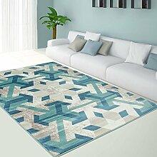 Teppich Pastell Modern Designer Wohnzimmer Schlafzimmer Läufer Inspiration Flake Pastell Blau NEU , Größe in cm:200 x 290 cm