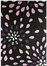 Teppich Petal Splash Black Ophelia & Co.