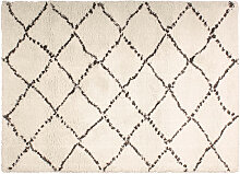 Teppich Polypropylen cremefarben 120 x 170 DAHRA