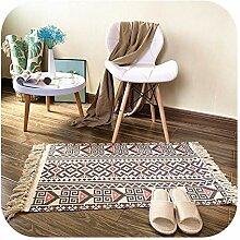 Teppich Quasten | Retro Teppich Sofa Wohnzimmer
