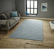 Teppich Racine in Hellblau Canora Grey