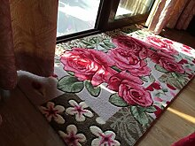Teppich-Rechteck-Matten Computer-Stuhl-Kissen-europäische Art-Maschinen-waschbarer Wolldecke ( größe : 100*150cm )