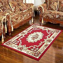 Teppich Retro ländlichen Wohnzimmer Schlafzimmer Sofa Couchtisch Bedside Rechteck rutschfesten Teppich ( farbe : #1 , größe : 98*148cm )