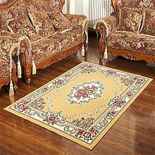 Teppich Retro ländlichen Wohnzimmer Schlafzimmer Sofa Couchtisch Bedside Rechteck rutschfesten Teppich ( farbe : #3 , größe : 130*188cm )