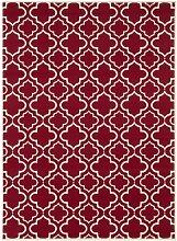 Teppich Ringwood in Rot/Weiß Canora Grey