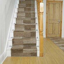 Teppich Rodley für Treppen in Grau