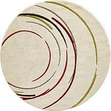 Teppich Rom rund, beige (Ø 120 cm)