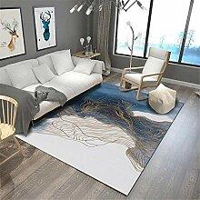 Teppich Room Decoration Blaue weiße gelbe Tinte