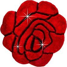 Teppich Rose, rot (Ø 90 cm)