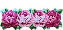 Teppich Rose Teppich Handgefertigte Matten 4 Lange rosa Rosen Bestickte Teppich (165 * 60cm) ( größe : 165*60cm )