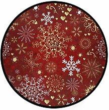 Teppich Rotgold Herz Schneeflocken Weihnachten