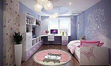Teppich rund Diamond Kids Nilpferd rosa 120x