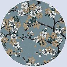 Teppich, Runde für das Wohnzimmer, Couchtisch, Schlafzimmer, Schwanz, retro, 100 cm im Durchmesser, Durchmesser 120 cm American Teppich (Farbe: #1, Größe: Durchmesser 120)