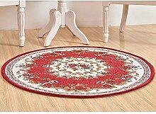 Teppich, runde Jacquard, für Wohnzimmer, Couchtisch Schlafzimmer computer Sitzkissen, Durchmesser 90 cm oder 120 cm im Durchmesser, Amerikanische Teppich (Farbe: #1, Größe: #001# 002-90 cm)