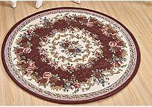 Teppich, runde Jacquard, für Wohnzimmer, Couchtisch Schlafzimmer computer Sitzkissen, Durchmesser 90 cm oder 120 cm im Durchmesser, Amerikanische Teppich (Farbe: #2, Größe: #001# 002-120 cm)