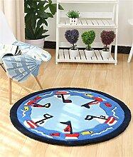 Teppich runde Matten Computer Stuhl Kissen Europäische Stil Maschine waschbar Teppich ( größe : 120*120cm )