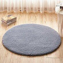Teppich runde Matten Computer Stuhl Kissen Europäische Stil Maschine waschbar Teppich ( Farbe : #3 , größe : 100*100cm )