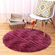 Teppich runde Matten Computer Stuhl Kissen Europäische Stil Maschine waschbar Teppich ( Farbe : B , größe : 120*120cm )