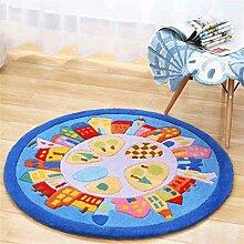 Teppich runde Matten Computer Stuhl Kissen Europäische Stil Maschine waschbar Teppich ( größe : 140*140cm )