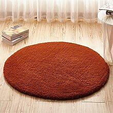 Teppich runde Matten Computer Stuhl Kissen Europäische Stil Maschine waschbar Teppich ( Farbe : #7 , größe : 120*120cm )