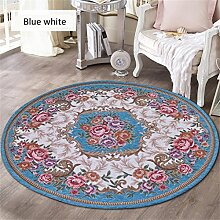 Teppich runde Matten Computer Stuhl Kissen Europäische Stil Maschine waschbar Teppich ( farbe : #9 , größe : 0.9*0.9m )