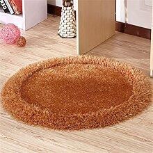Teppich runde Matten Computer Stuhl Kissen Europäische Stil Maschine waschbar Teppich (90 * 90cm) ( Farbe : #8 )