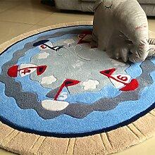 Teppich Runde Teppich Persönlichkeit Muster Wohnzimmer Bedside Korb Computer Stuhl Kinder Zimmer Teppich ( größe : 120*120cm )