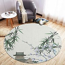 Teppich Runder Teppich Chinesische Pflanze Blumen