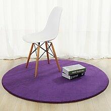 Teppich, Rundes Kissen, Schlafzimmer, Computerhocker, Hängen, Kessel, Stuhl, Modern, Modern, Wohnzimmer, Schlafzimmer, Bett ( Color : D , Size : Diameter 120cm )