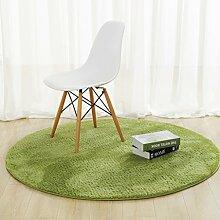 Teppich, Rundes Kissen, Schlafzimmer, Computerhocker, Hängen, Kessel, Stuhl, Modern, Modern, Wohnzimmer, Schlafzimmer, Bett (Color : D, Size : Diameter 60cm)