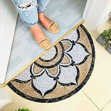 Teppich,rutschfeste, Zottelige, Braune, Mit Blumen