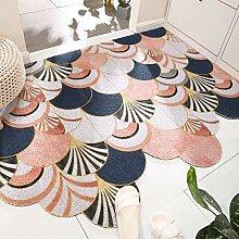 Teppich,rutschfeste Zottelige Rosa Schalentiere