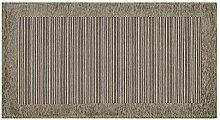 Teppich Schlafzimmer und Wohnzimmer mit Rückseite rutschfest Position Stripes by Suardi 65x300 Schlamm