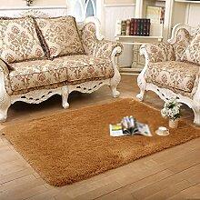 Teppich Schlafzimmer Wohnzimmer Couchtisch Bett Seitenfenster einfache rechteckige dekorative Pad , 002 , 120*200cm