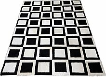 Teppich schwarz weiß 170 x 240 cm